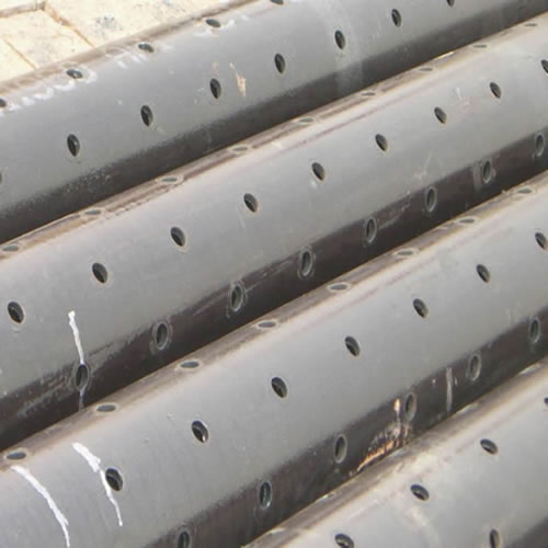 Galvanized Steel Perforated Tubing, Slotted with Round Holes